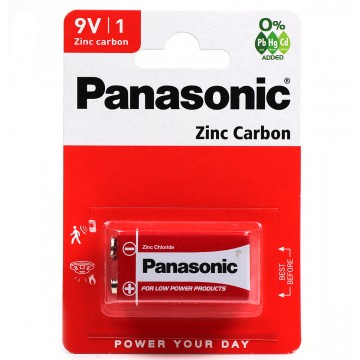Panasonic ZINC 9V 1 Pack 6F22RB1 Brown Box