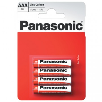 Panasonic Zinc AAA 4/PK