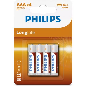 Philips LongLife zinc AAA...