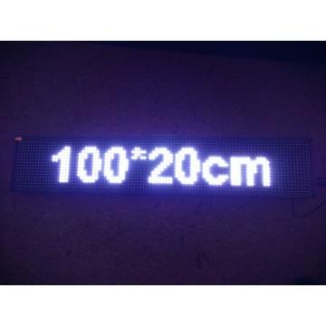 100*20CM WHITE LED SIGN