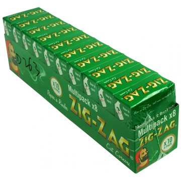Zig Zag *8 Pack* Green Regular (10's)