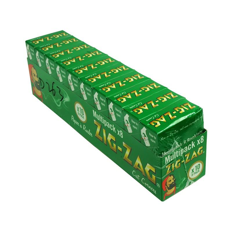 Zig Zag *8 Pack* Green Regular (10's)