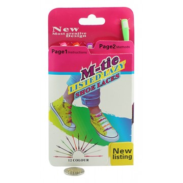 12 COLOUR SHOE LACES