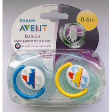 Philips Avent Silicone Fashion Soothers Twin Pack