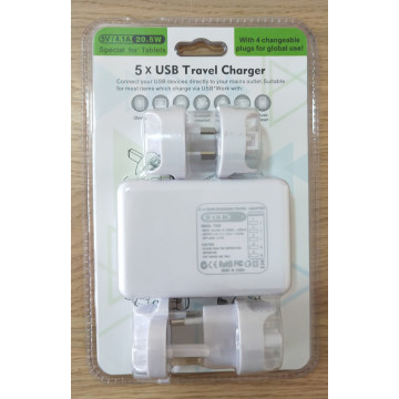 5 Usb Travel Charger