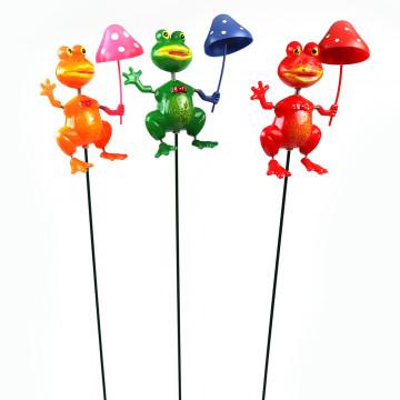 Garden Frog Umbrella Stakes...