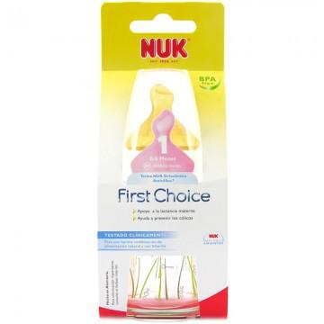 NUK Glass Bottle Latex Teat 120ml