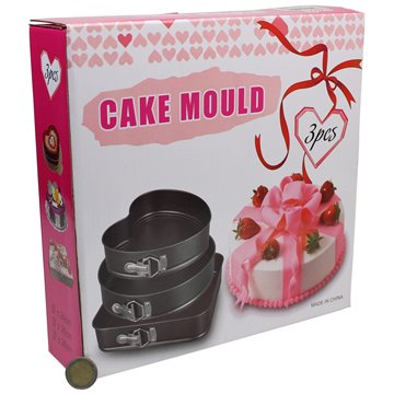 3pc Cake Mould 24/26/28cm
