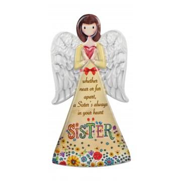 PORCELAIN ANGEL PLAQUE 8*16cm