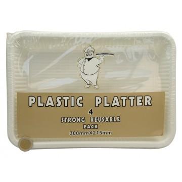 4PC PLASTIC PLATTER