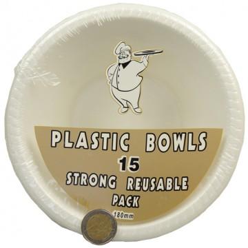 """5PC 7"""" PLASTIC BOWLS"""