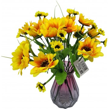 5 Head Sunflower (12) 26cm