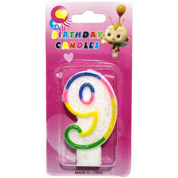 Number Birthday Candle-9 (12)