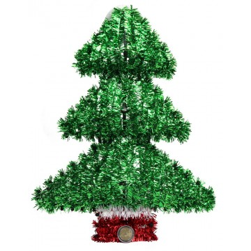 TINSEL XMAS TREE 27*35CM