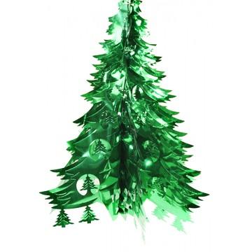 TINSEL XMAS TREE(10) 40*65cm