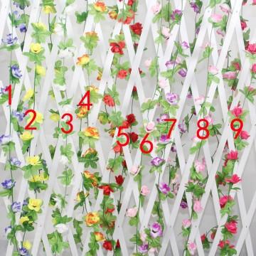 Flower Garland WHITE 2m (5)