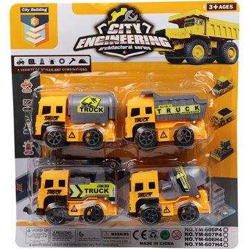 4pcs Construction Truck