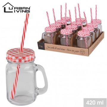 12PCS GLASS JAR /WTRAY BOX