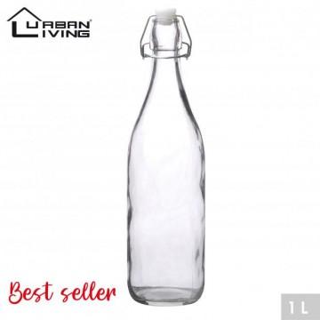 GLASS BOTTLE 1L -CLEAR