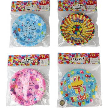 "10PCS 7"" ASSORTED PARTY PLATE"