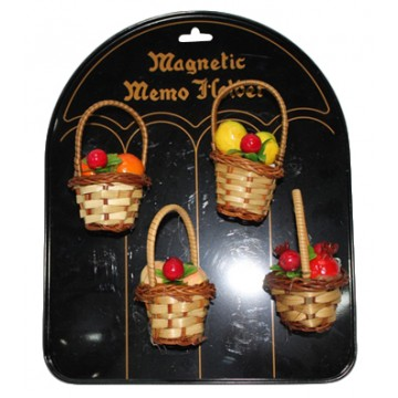 Fruit Basket Fridge Magnetic