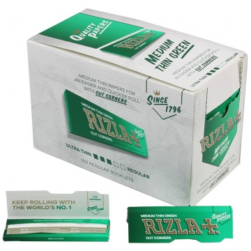 RIZLA REG PAPER - GREEN (NEW PACKAGE)