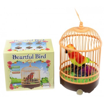 BIRDCAGE W/ SINGING BIRD